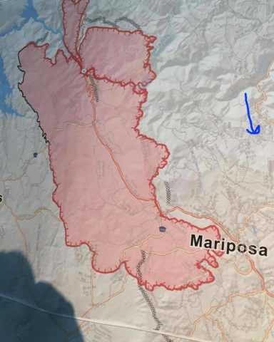 Image Of The Day July 20 2017 Detwiler Fire Map Progressive
