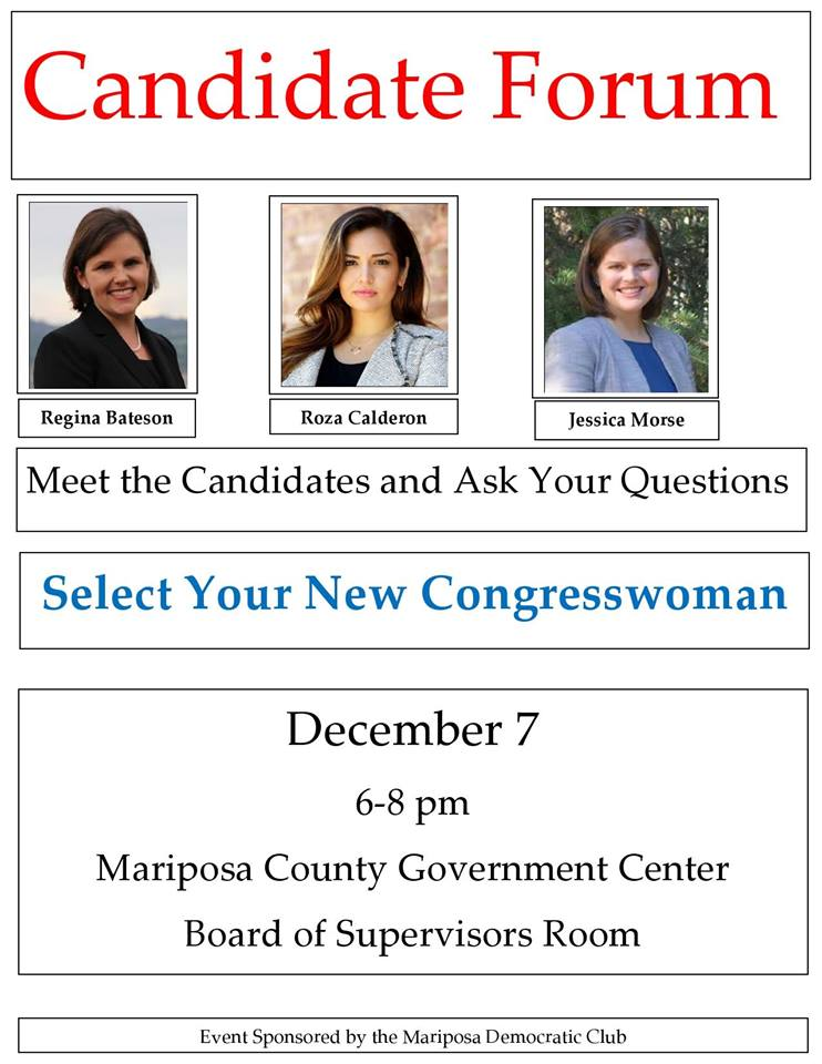 Mariposa Candidates Forum @ Mariposa County Board of Supervisors Chambers | Mariposa | California | United States