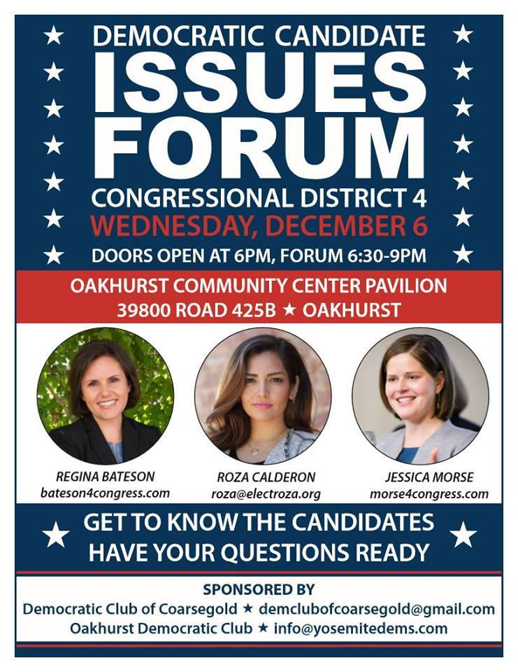 CA04 Candidates Forum - Oakhurst/Coarsegold @ Oakhurst Community Center Pavilion | Oakhurst | California | United States