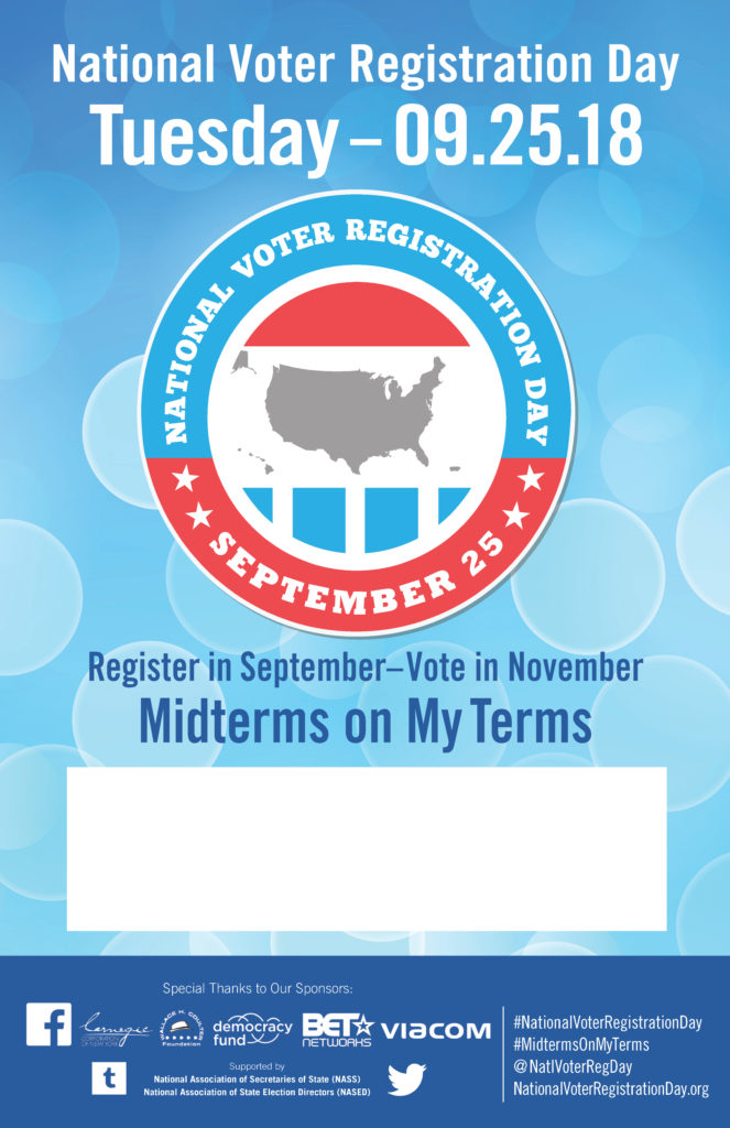 National Voter Registration Day - Sep 25 @ Mariposa County Library